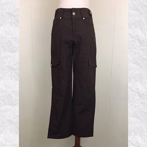 Escada Sport Straight Leg Cotton Ankle Cargo Pants